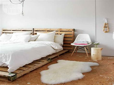 Shipping Pallet Bed Pallet Bed Frame With Brick Wall And Storage And Bookcase