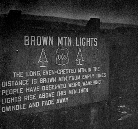 Brown Mountain Lights Nc by Mystery In Sky Carolina For The Dead Chart Climbing