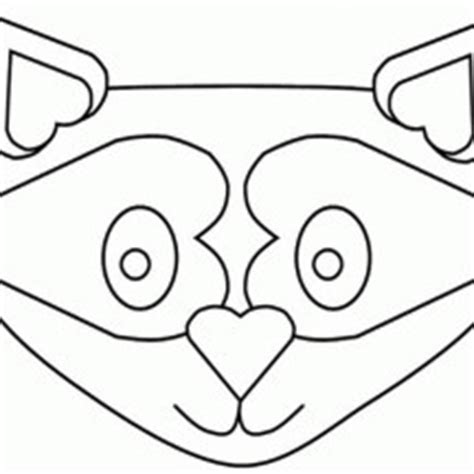 printable raccoon mask pin printable racoon mask free on pinterest