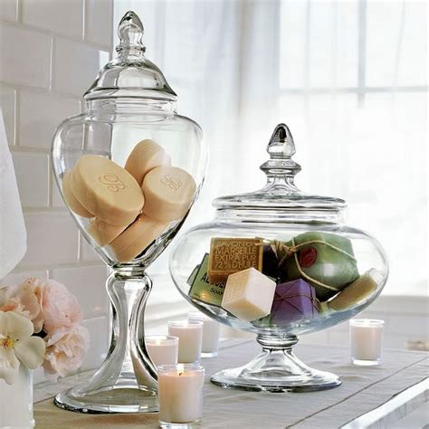 apothecary jars for bathroom the creative cubby pinspiration friday apothecary jars