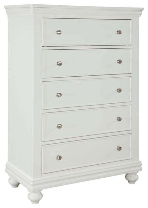 white 5 drawer dresser standard furniture essex white 5 drawer chest in white