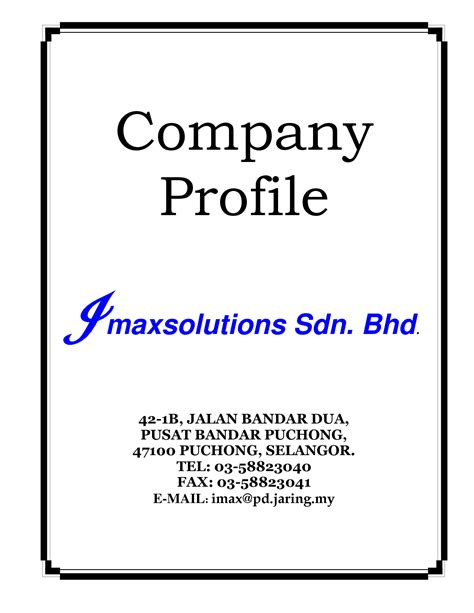 small business company profile template best photos of small business profile exles sle