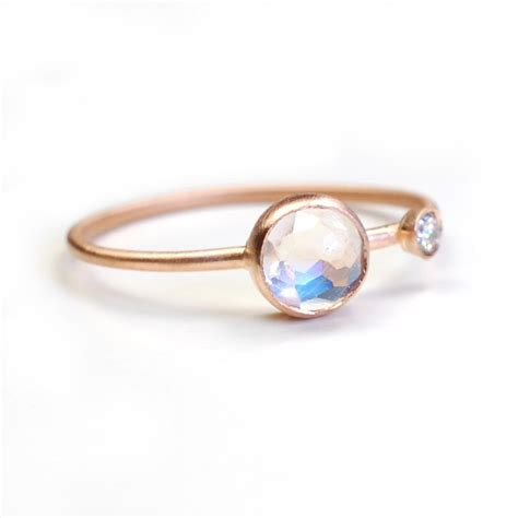 moonstone ring engagement ring cut moonstone ring