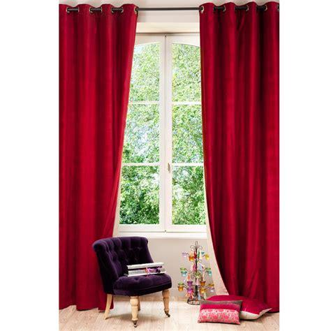 tenda velluto tenda rossa e beige in velluto e lino con