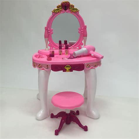 vanity mirror play set stool pretend play hair dryer