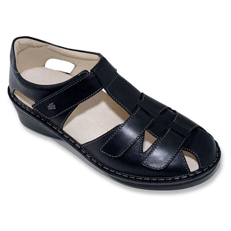 women comfort shoes finn comfort women s funen sandals in black nappa