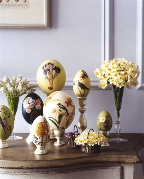 Decoupage Martha Stewart - oversize botanical decoupage easter eggs martha stewart