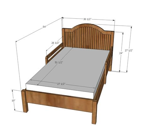 Dimension Of Bed by White Traditional Wood Toddler Bed Diy Projects