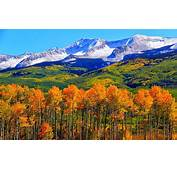 Autumn Colorado Fall Snowy Mountains Nature Landscape Hd