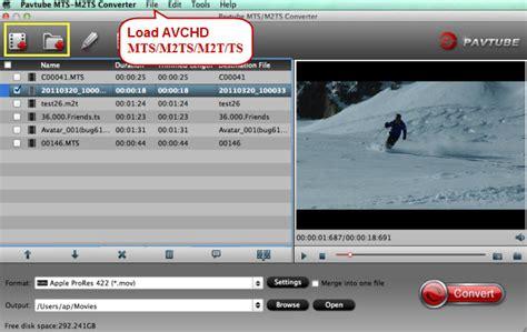 format video mts merge avchd mts m2ts files