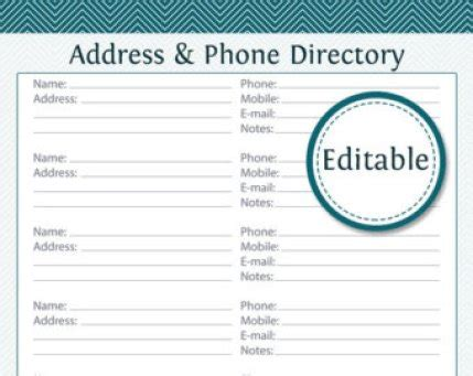 church phone directory template 3 excel church directory templates excel xlts