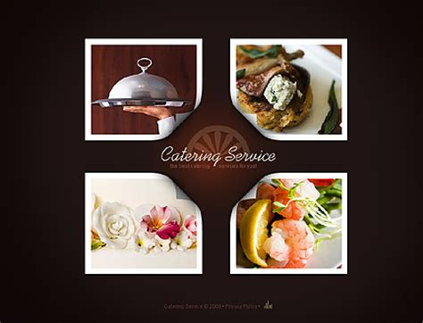 Catering Service Flash Website Template Premium Edition Software Design Templates Catering Website Templates