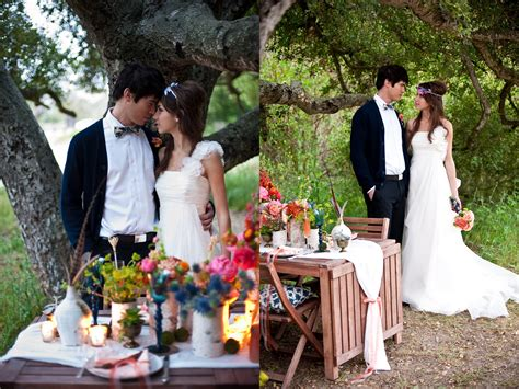 Wedding Outdoor Photos by Al Fresco California Bohemian Wedding Portraits Diy