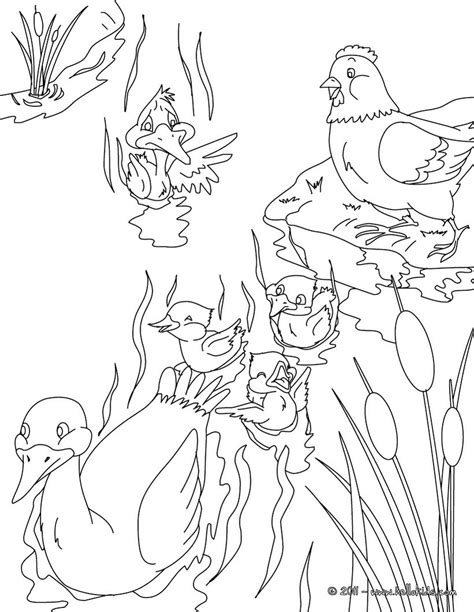 the ugly duckling tale coloring pages hellokids com