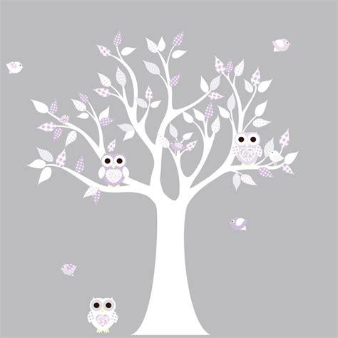 White Tree Decal For Nursery Wall Nursery Wall Decal Tree Decal Children Wall Decal Nursery Tree Vinyl Decal Nursery