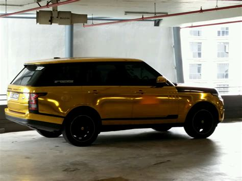 range rover gold gold chrome range rover in singapore rice