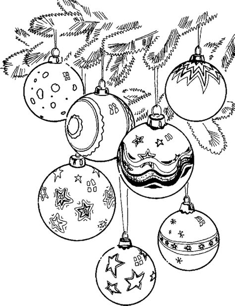 google printable christmas adult ornaments balls coloring pages coloringpages1001