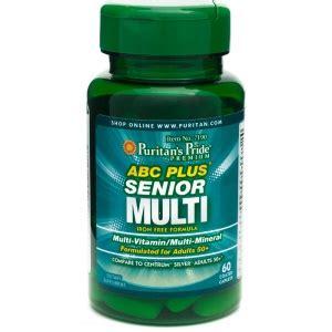 Puritan Abc Plus Senior Multivitamin Mineral 120cap puritan s pride abc plus 174 senior multivitamin multi mineral formula 60 caplets