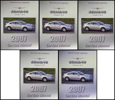 small engine repair manuals free download 1999 chrysler cirrus spare parts catalogs 2007 chrysler sebring repair shop manual original 5 vol set