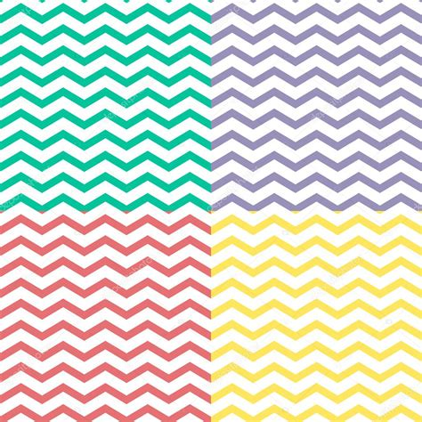seamless zigzag pattern simple retro zigzag seamless pattern in four colors