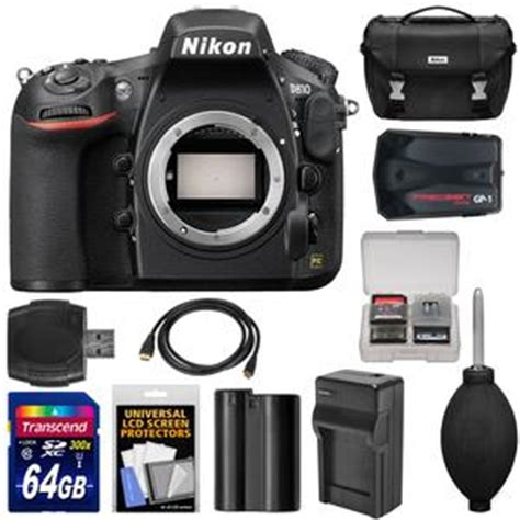 Memory Kamera Slr nikon d810 digital slr with 64gb card battery charger gps adapter kit