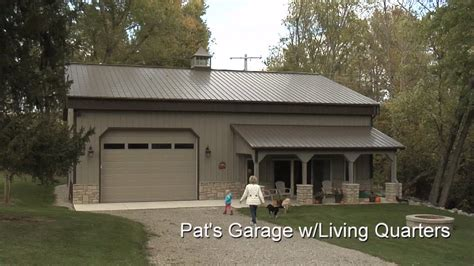 metal garage with living space pat s garage w living quarters