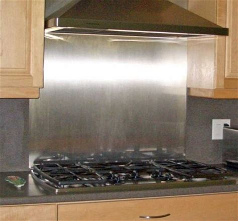 polished stainless backsplash 36 quot x 30 quot with hemmed edges