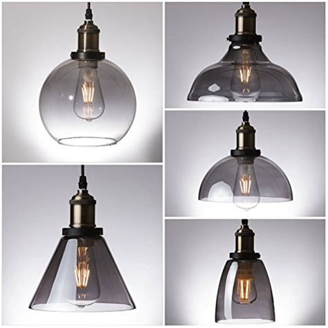 smokey glass pendant light smoked glass pendant light myledshop