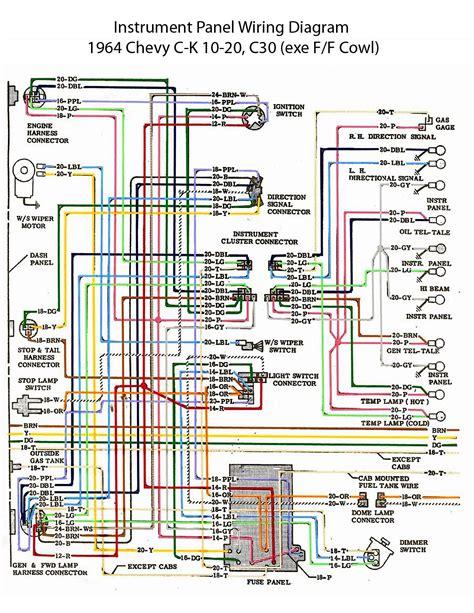 1964 Chevy Wiring Diagram Service Repair Manual