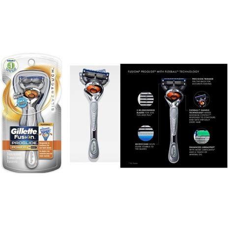 Silet Gillette Proffesional Tajam 13 silver touch flex gillette fusion proglide manual razor flexball handle