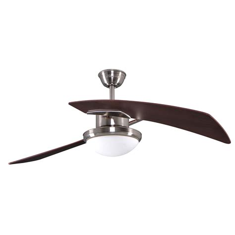 2 blade ceiling fan with light shop allen roth santa 48 in brushed nickel downrod