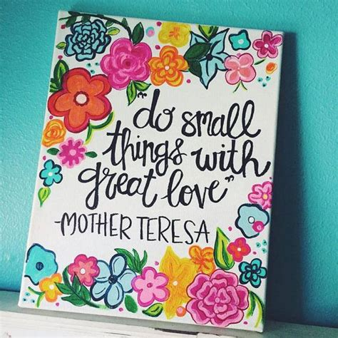 hand painted wall design my work pinterest discover do small things with great love handmade painted quote