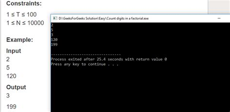 1 floor log10 1 x geeksforgeeks solution for quot count digits in a factorial