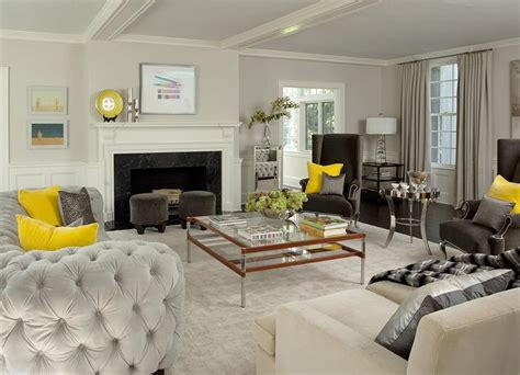grey and yellow sofa yellow and gray living room with light gray velvet tufted