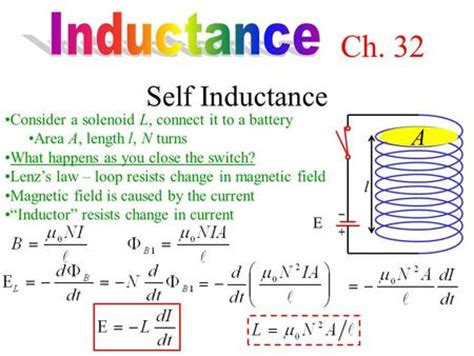 how to find inductance of a inductor inductance self inductance a ppt