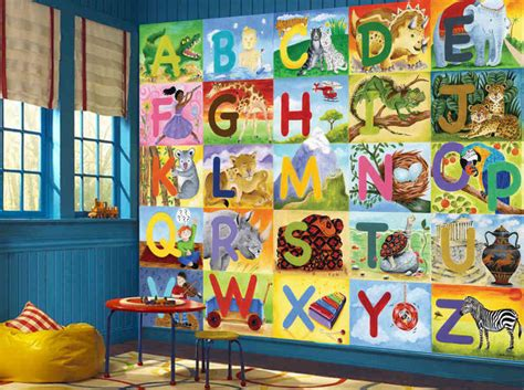 alphabet wall mural deco ideas for room buy prepasted wallpaper murals muralunique