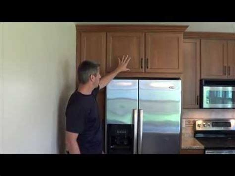 gap between fridge and cabinets fridge cabinet upper gap filler youtube
