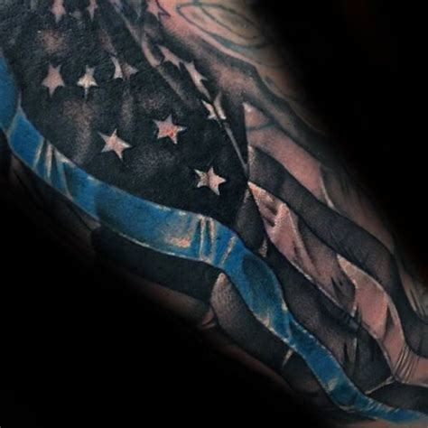 thin blue line tattoo designs trends cool thin blue line american flag