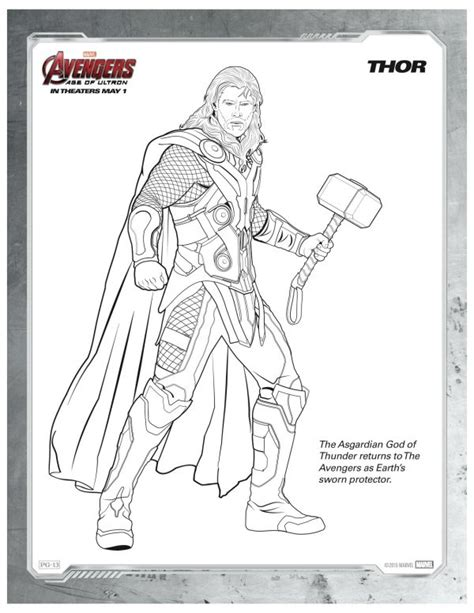 marvel adventures coloring pages free printable marvel avengers thor coloring page mama