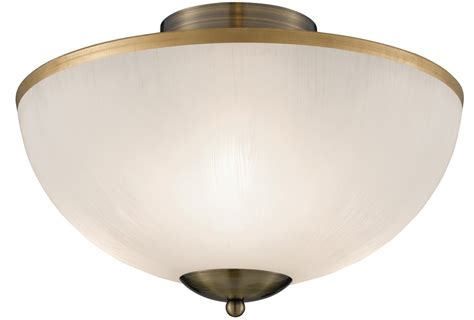 Flush Glass Ceiling Light Brahama Flush Fitting Acid Etched Glass Ceiling Light 6580ab