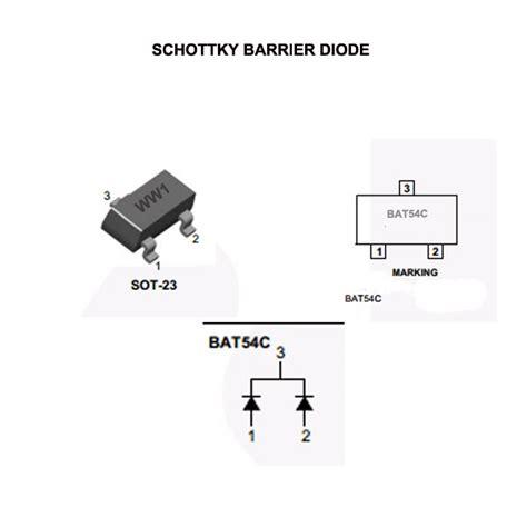 que es schottky barrier diode diodo schottky bat54c rectifier barrier diodes 0 2a 30v