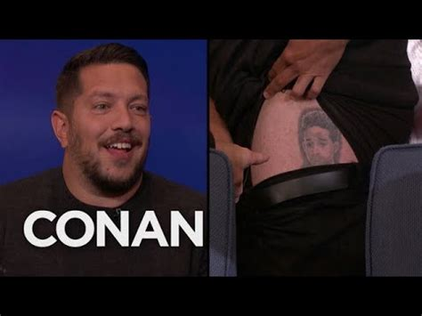 jaden smith tattoo impractical joker sal has a jaden smith tattoo on his upper thigh conan on