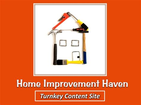 home improvement turnkey content site wow profit packs