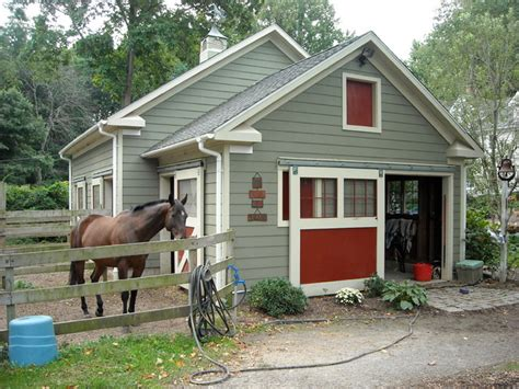 backyard horse barns horse barn traditional garage and shed new york by