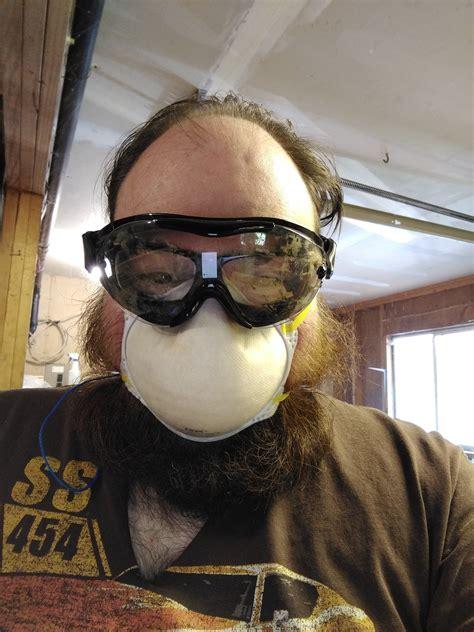 beard  glasses dust maskprotective eye wear