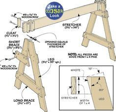 knock down shooting bench plans woodshop tables horses on pinterest saw horses workbenches and sawhorse plans
