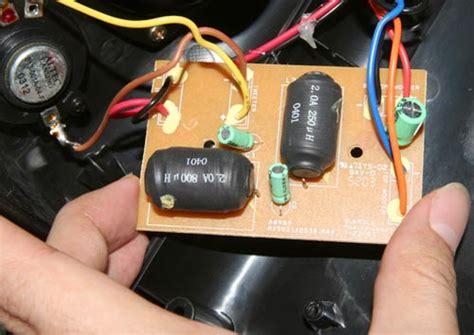 blown capacitor speaker altec mx5021 speaker mod jimmy s junkyard
