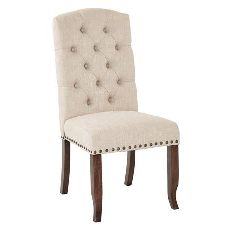linen chair homesullivan huntington beige linen button tufted dining