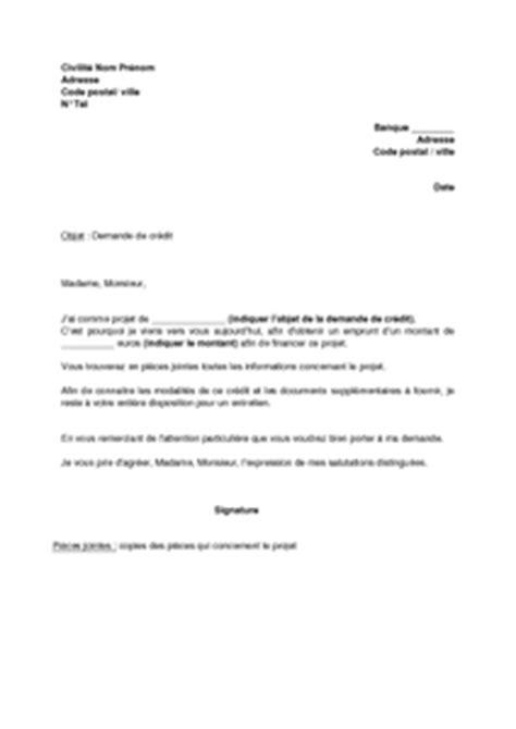 Exemple De Lettre De Demande De Relevé Bancaire Lettre De Demande De Cr 233 Dit Mod 232 Le De Lettre Gratuit Exemple De Lettre Type Documentissime