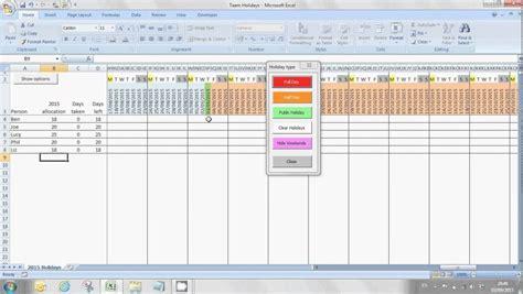 staff annual leave calendar template calendar image